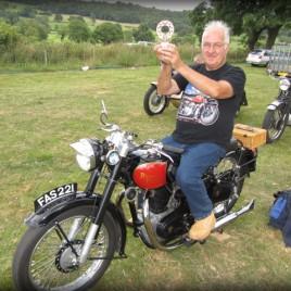 Bike Winner at Rotary Ashover Classic Car & Bike Show