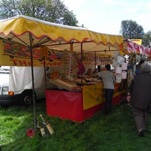 Trade stalls at Rotary Ashover Classic Car & Bike Show