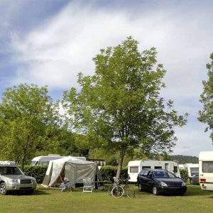 Camping and caravans at the Rotary Ashover Classic Car & Bike Show