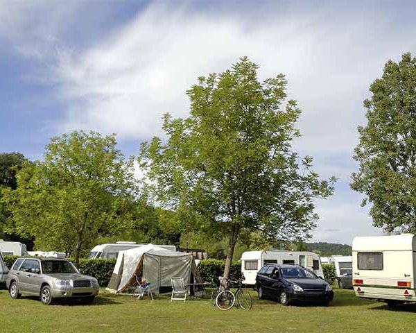 Camping and caravans at the Rotary Ashover Classic Car & Bike Show